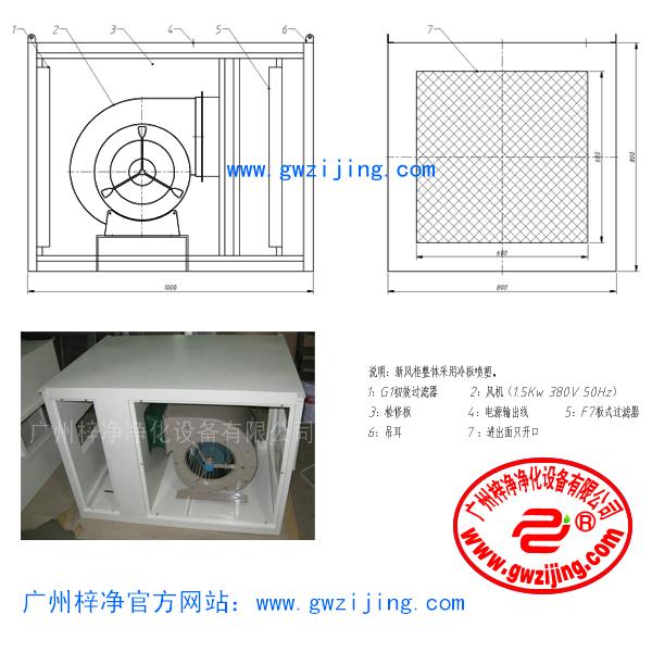 增压新风柜也叫新风增压箱,又称增压柜,增压新风柜主要用于各类厂房新风换气,其作用在于增加室内 新鲜空气,加快空气流通