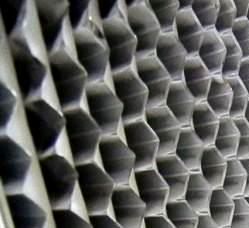 400度高温高效空气过滤器铝箔结构特写