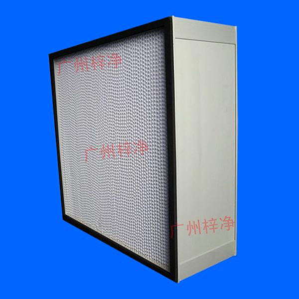 纸隔板高效空气过滤器主要用于高效送风口,高效送风天花,洁净室末端高效送风
