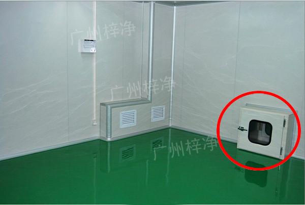 洁净室落地传递窗正确安装方法