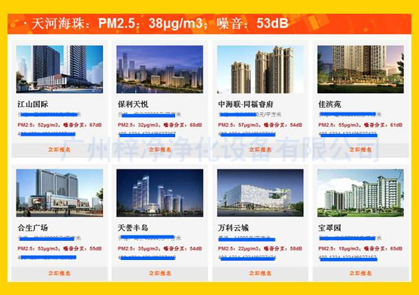 天河海珠:PM2.5:38μg/m3;噪音