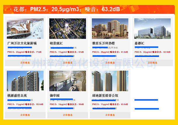 花都:PM2.5:20.5μg/m3;噪音:63.2dB
