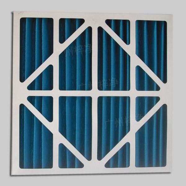 G2级初效过滤器主要适用于空调与通风系统预过滤洁净室回风过滤局部高效过滤装置的预过滤用于过滤 5um 及以上粒径的尘埃粒子