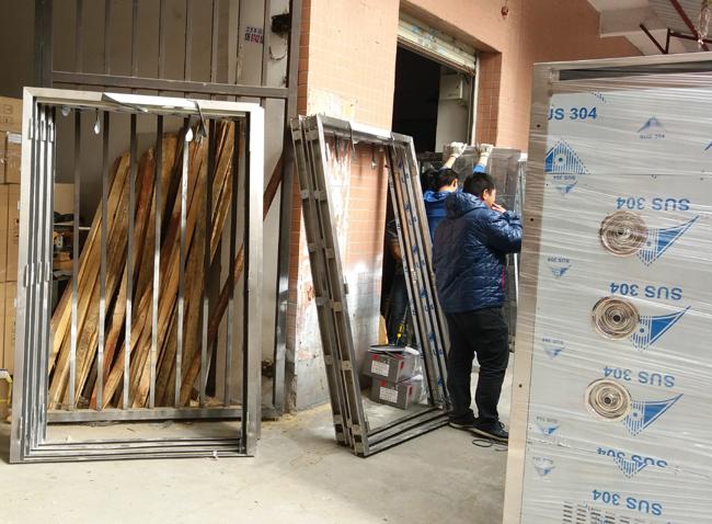 304不锈钢人货两用风淋室门框
