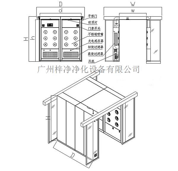 自动门风淋室设计方案图