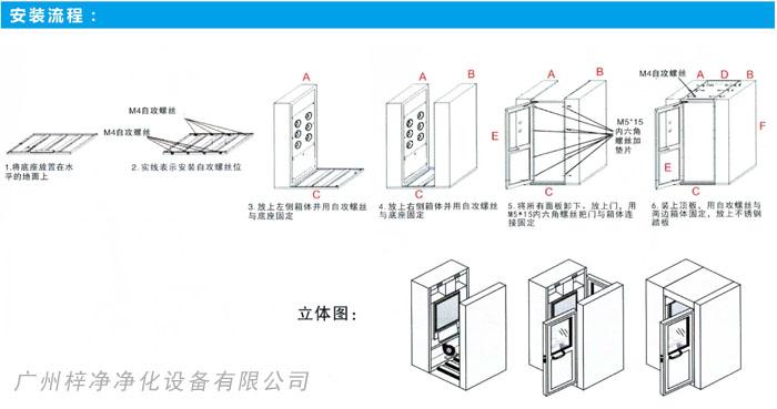 风淋室安装流程图
