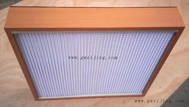 纸隔板高效过滤器采用隔板式设计,波纹形隔板可以精确地保持褶层间距。