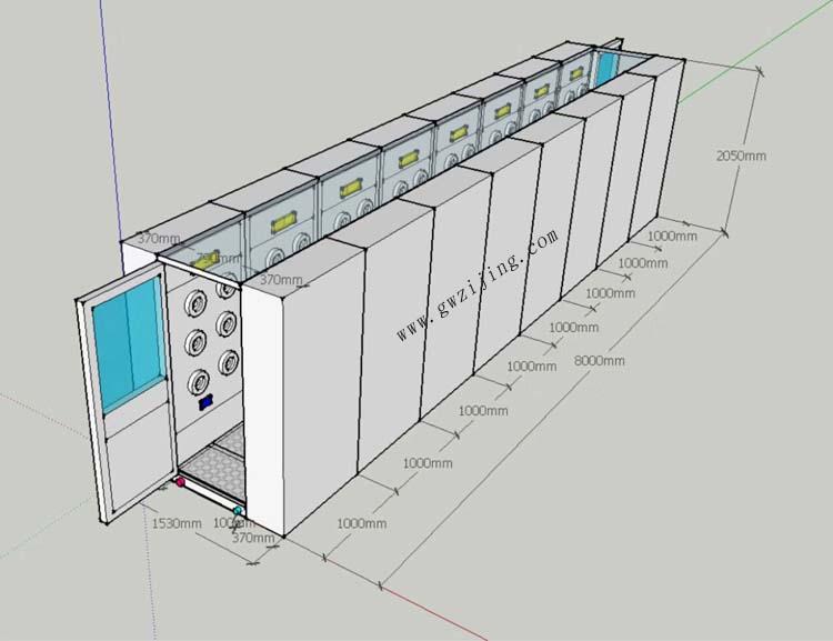风淋室安装结构图