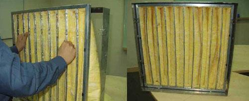 F8级耐高温玻纤袋式中效过滤器