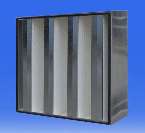 大风量高效过滤器滤材采用超细聚丙烯滤纸或玻璃纤维滤纸(外框:镀锌钢板)