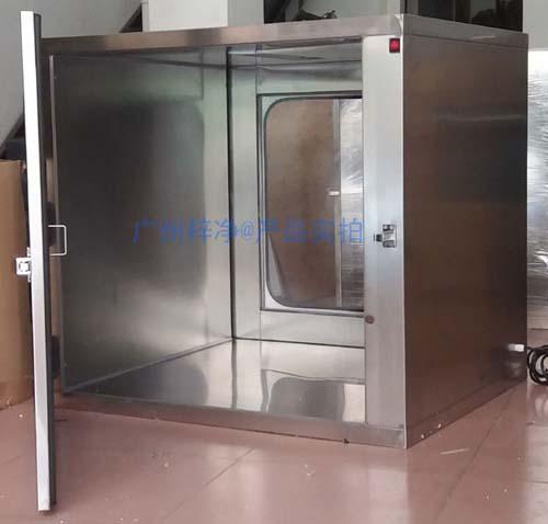 机械互锁传递窗开门状态【外门打开,内门上锁】