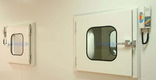无尘室电子互锁传递窗安装现场图片