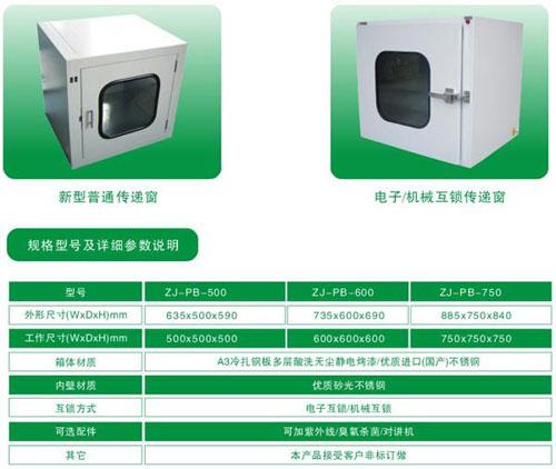 普通传递窗标准规格尺寸与技术参数