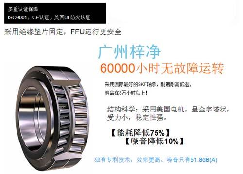 节能FFU6000小时无故障运转