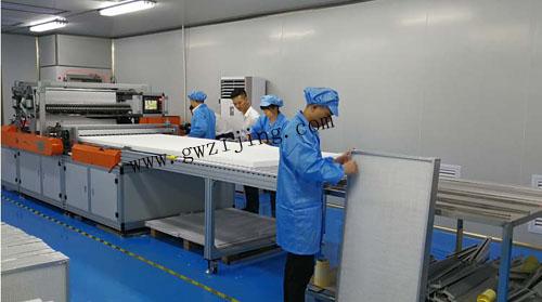 FFU高效过滤器生产车间
