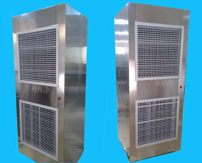 空气自净器外壳全部采用冷轧板钢板烤漆,由风机、初效过滤器、送风静压箱、高效过滤器和均流板组成